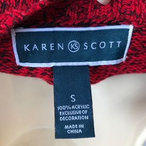 Karen Scott Sweaters - Karen Scott Reindeer & Santa Holiday Sweater NWT